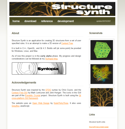 Structure Synth Web